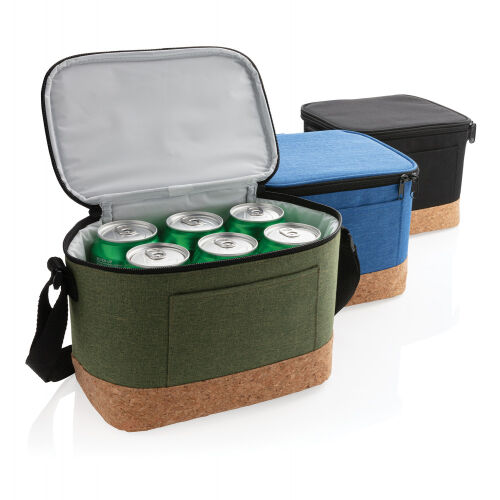 Двухцветная сумка-холодильник с пробковой отделкой 5