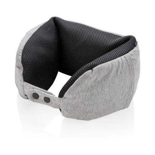 Подушка для путешествий Deluxe  с наполнителем Microbead, серый 1