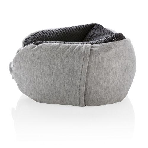 Подушка для путешествий Deluxe  с наполнителем Microbead, серый 2