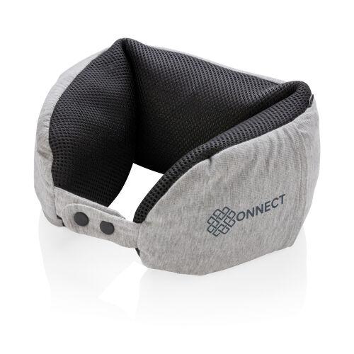 Подушка для путешествий Deluxe  с наполнителем Microbead, серый 3