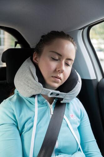 Подушка для путешествий Deluxe  с наполнителем Microbead, серый 4