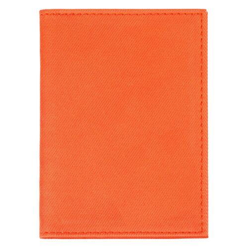 Обложка для автодокументов Twill, оранжевая 2