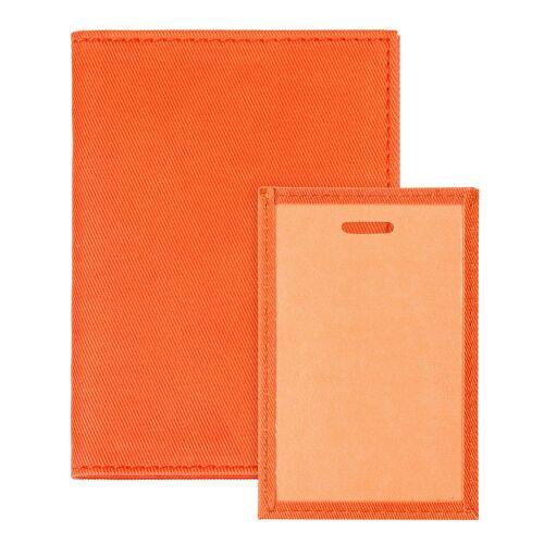 Обложка для автодокументов Twill, оранжевая 3
