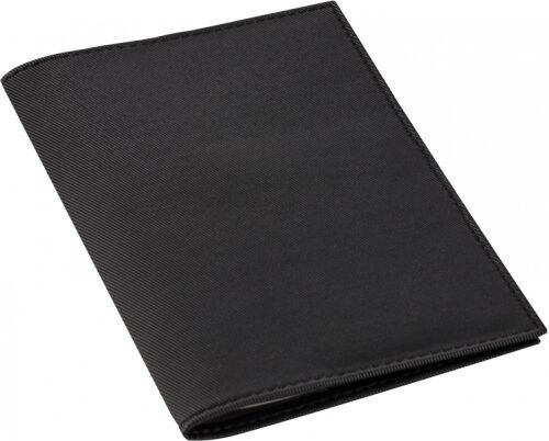 Обложка для автодокументов Twill, черная 1
