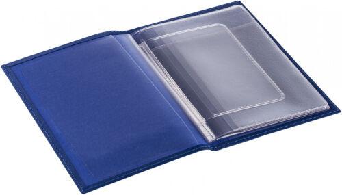 Обложка для автодокументов Twill, синяя 2
