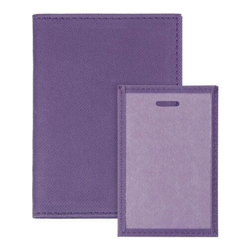 Обложка для автодокументов Twill, фиолетовая 3