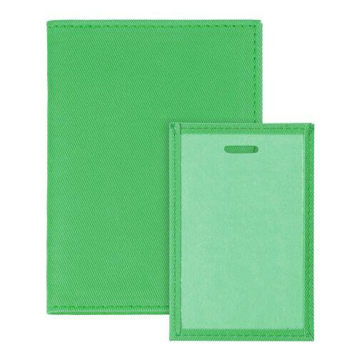 Обложка для автодокументов Twill, зеленая 3