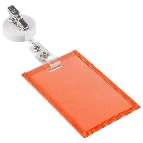 Чехол для пропуска Twill, оранжевый 3