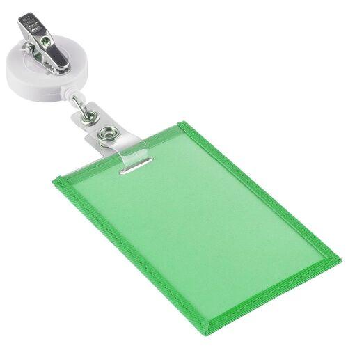 Чехол для пропуска Twill, зеленый 3